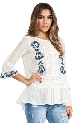 Free People Jocelyn's Embroidered Top
