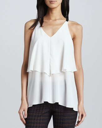 Yigal Azrouel Cut25 by Tiered Silk Blouse