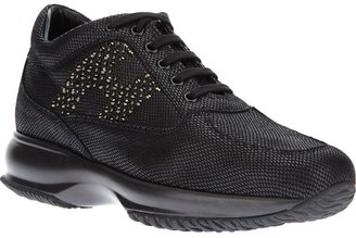 Hogan calf leather 'Interactive Strass' studded trainer