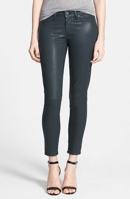 Paige 'Verdugo' Coated Skinny Ankle Jeans (Evergreen Silk)