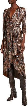 Johnny Was Teya High-Low Wrap Dress