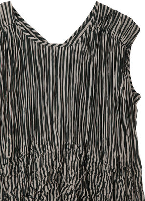 Zucca distorted pleats top