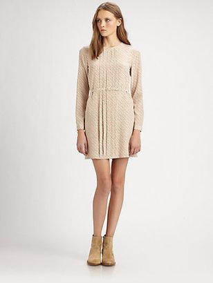 A.P.C. Printed Silk Dress