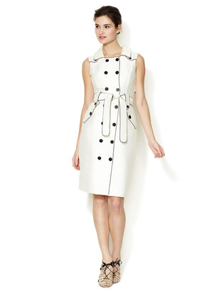 Carolina Herrera Safari Piped Trench Dress