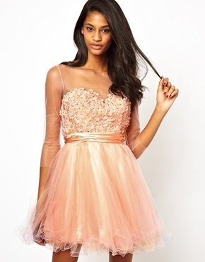 Forever Unique Prom Dress - Pale pink