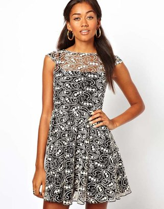 Motel Lace Skater Dress
