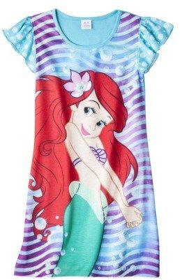 Disney Ariel Girls' Short-Sleeve Nightgown