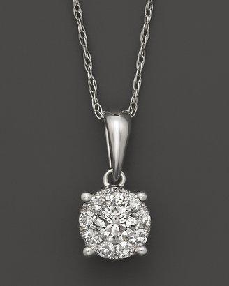 Bloomingdale's Diamond Cluster Pendant In 14K White gold, .25 ct.