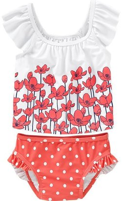 Old Navy Ruffled Mix-Print Tankinis for Baby