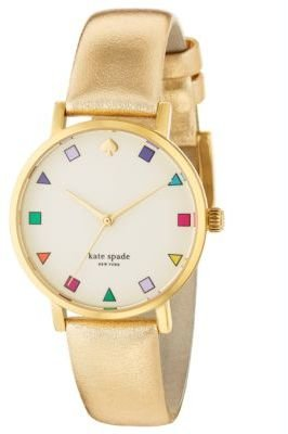 Kate Spade Ladies' Patchwork Metro Gold-Plated Watch