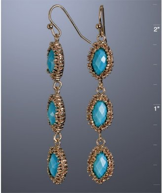 Kendra Scott turquoise 'Rena' linear drop earrings