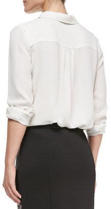 Rebecca Minkoff Roberta Silk Long-Sleeve Top