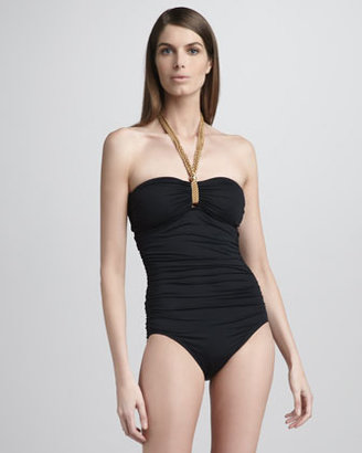 Carmen Marc Valvo Key West Ruched One-Piece