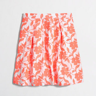 J.Crew Factory Factory embroidered floral skirt