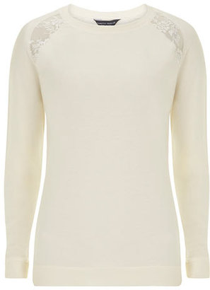 Dorothy Perkins Tall ivory lace insert sweat
