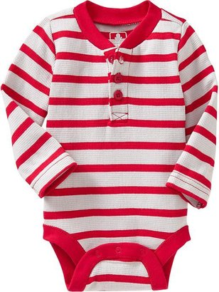 Old Navy Waffle-Knit Henley Bodysuits for Baby