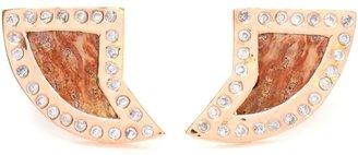 Dezso pietersite, diamond and rose gold earrings