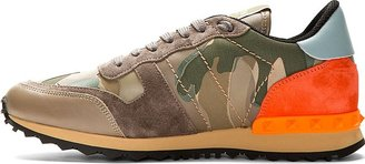 Valentino Khaki Camo Low-Top Sneakers