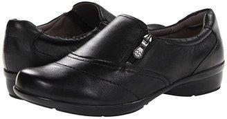 Naturalizer Clarissa (Black Leather) Women's Flat Shoes