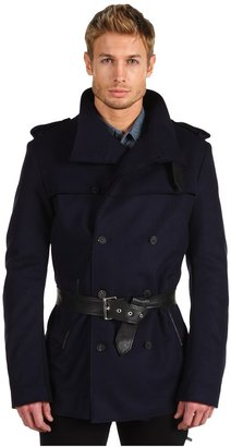 CNC Costume National Trench with Biker Back Men's Coat