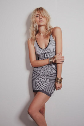 Free People Strap Back Printed Body Con