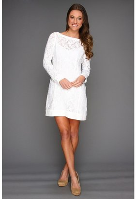 Nanette Lepore Lithograph Dress (White) - Apparel