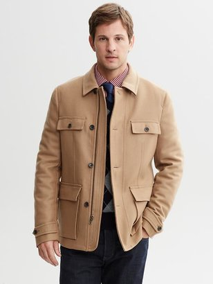 Banana Republic Camel wool utility coat