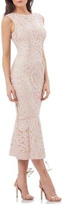 Petite Women's Js Collections Soutache Mesh Dress $260 thestylecure.com