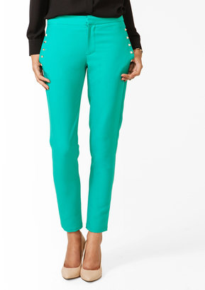 Forever 21 Studded Straight Ankle Pants