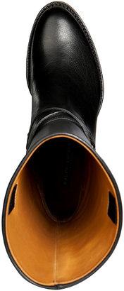 Ralph Lauren Leather Half Boots in Black