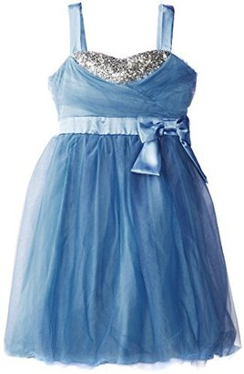 Ruby Rox Big Girls' Tulle and Bead Party Dress