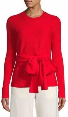 Diane von Furstenberg Bow Merino Wool Sweater