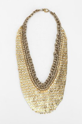 Deepa Gurnani Scales Bib Necklace