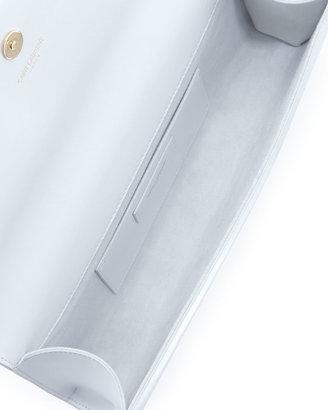 Saint Laurent Cassandre Tassel Clutch Bag, White