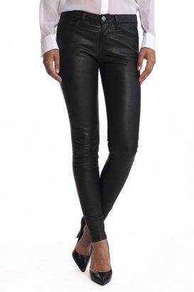 Current/Elliott The Ankle Skinny Leather Pants Black