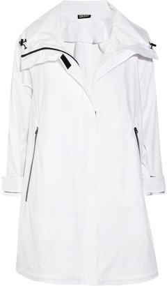 DKNY Stretch Cotton Twill Trapeze Coat