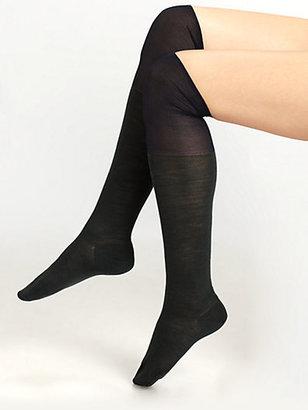 Maria La Rosa Semi-Sheer Over-The-Knee Socks