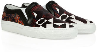 Givenchy Black-Multi Graphic Print Satin Sneakers