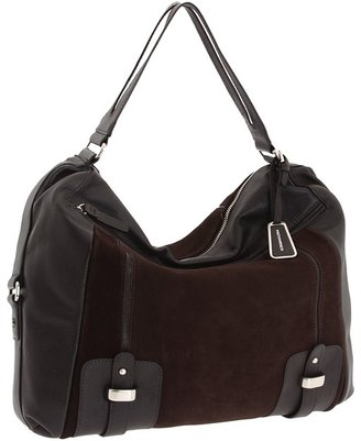 BCBGMAXAZRIA Suede And Leather Hobo (Chestnut) - Bags and Luggage