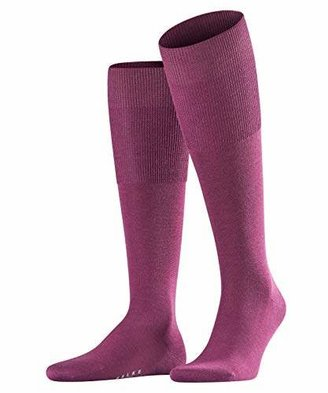 Falke Men Airport knee-highs, 1 pair, UK size 10-11 (EU ), Green, virgin wool mix - Wool on the outside for warmth, skin friendly cotton on the inside
