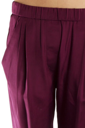 3.1 Phillip Lim Draped Pocket Trouser in Berry