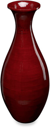 Stylecraft 22-Inch Bamboo Vase in Red