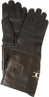 Marni Cashmere-lined leather gloves