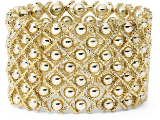 JCPenney Bold Elements Gold-Tone Ball Stretch Bracelet $20 thestylecure.com