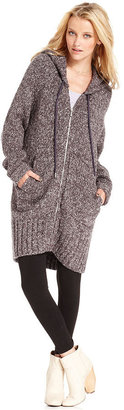 Rachel Roy Sweater, The Studio Hooded Long-Sleeve Marled-Knit