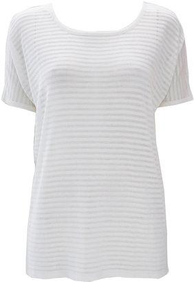 Wallis White Stripe Knitted Top
