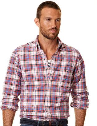 Nautica Shirt, Long Sleeve Oxford Plaid Shirt