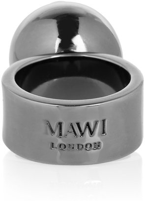 Mawi Hematite-plated spike ring
