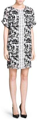 MANGO Outlet Mixed Print Dress