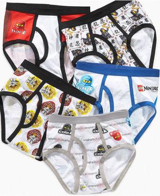 Lego Handcraft Ninjago Kids Underwear, Boys 5 Pack Briefs